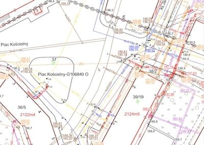 Geomax - mapa do celów projektowych